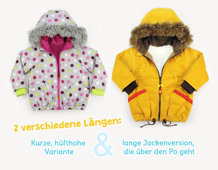 "Schnittmuster Jacke / Winterjacke ""COZY"" - Schnittmustervarianten"