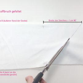 Patchworkdecke Nähanleitung: Rag Puff Quilt nähen - Schritt 1d