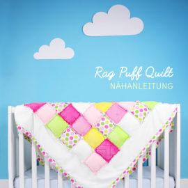 Patchworkdecke selber nähen: Rag Puff Quilt