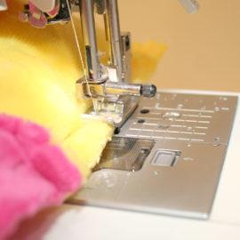 Patchworkdecke nähen: Rag Puff Quilt Nähanleitung - Schritt 6c