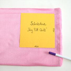 Patchworkdecke nähen: Rag Puff Quilt Nähanleitung - Schritt 1b