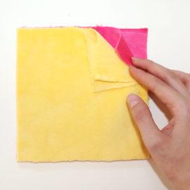 Patchworkdecke nähen: Rag Puff Quilt Nähanleitung - Schritt 3a