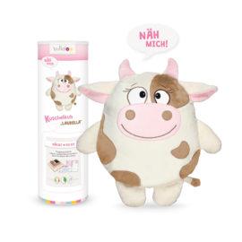 """Nähset Kuscheltier Kuh """"Laurella"""" in wollweiß / braun"""