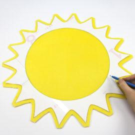 Kostenloses Schnittmuster Sonne - Schritt 2b