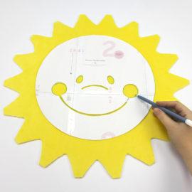 Kostenloses Schnittmuster Sonne - Schritt 2c