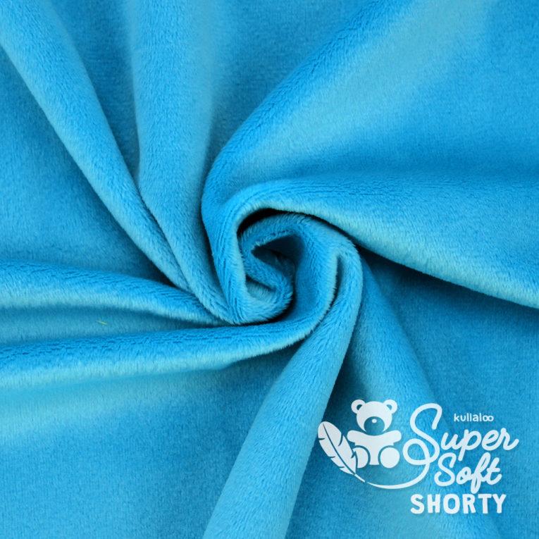 Plüsch blau Meterware - SuperSoft SHORTY