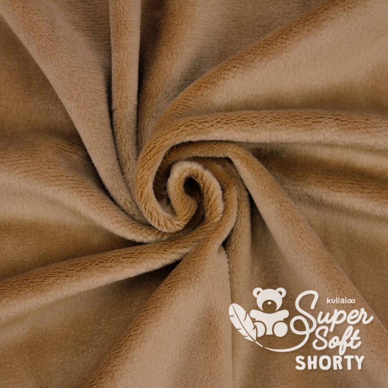 Plüsch braun Meterware - SuperSoft SHORTY