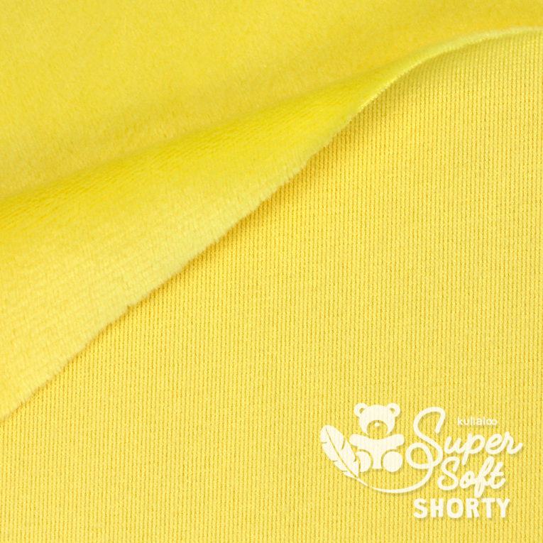Plüsch gelb Meterware - SuperSoft SHORTY