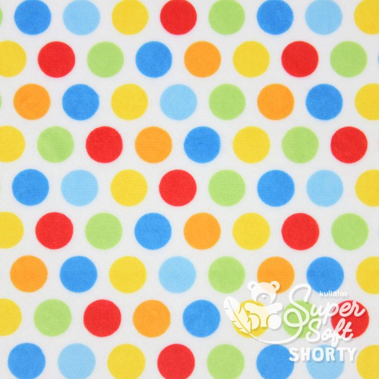 "Plüsch gepunktet ""Hula Dots"" multi - SuperSoft SHORTY"