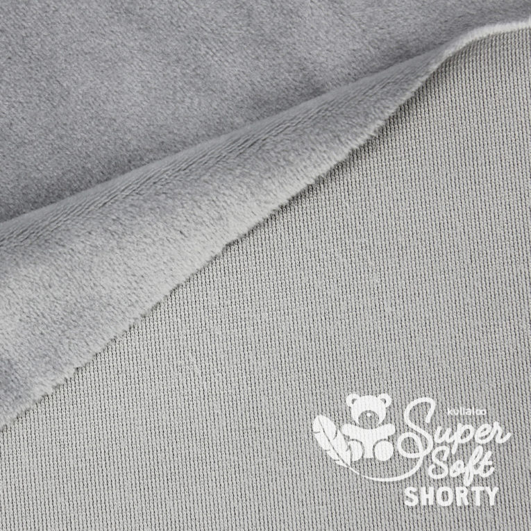 Plüsch grau Meterware - SuperSoft SHORTY