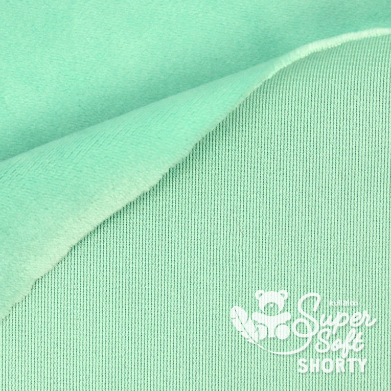 Minky mint - Plüsch Meterware - SuperSoft SHORTY