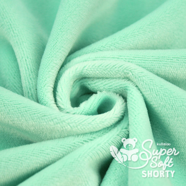 Plüschstoff mint - SuperSoft SHORTY