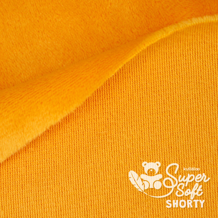 Plüsch orange Meterware - SuperSoft SHORTY