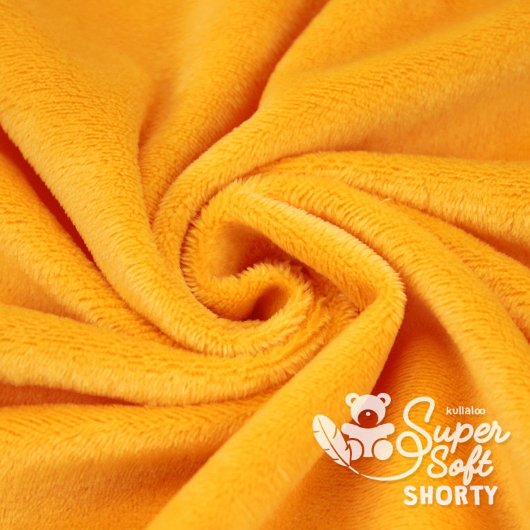 Plüsch orange Meterware - SuperSoft SHORTY