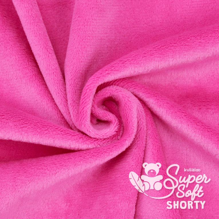 Plüsch pink Meterware - SuperSoft SHORTY