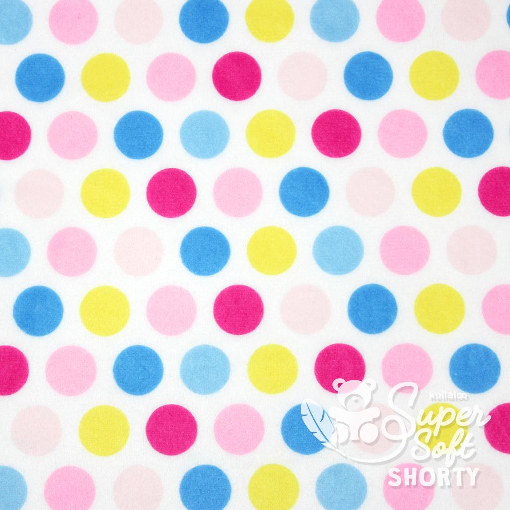 Pluschstoff Punkte Hula Dots Pink Blau Plusch Meterware Kullaloo