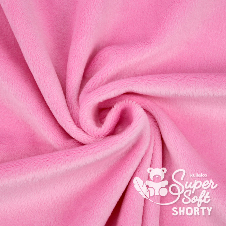Plüsch Stoff rosa Meterware - SuperSoft SHORTY