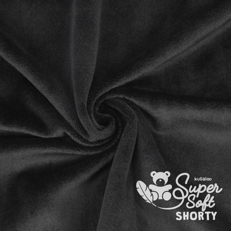 Plüsch schwarz Meterware - SuperSoft SHORTY