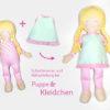 """Schnittmuster Puppe """"LULU"""" mit Kleidchen"""