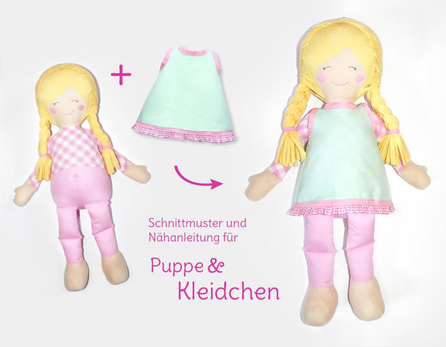 Puppe nähen: Papierschnittmuster Stoffpuppe \