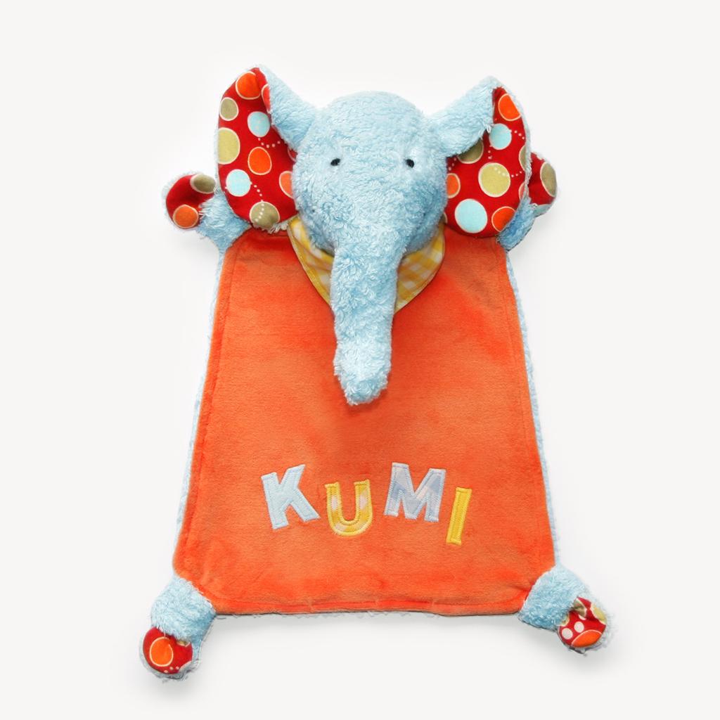 """Nähanleitung Schnuffeltuch Elefant """"KUMI"""""""
