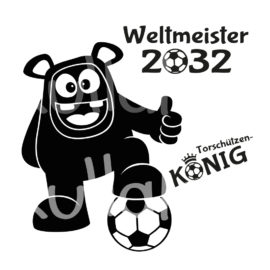 Plotterdatei Fußball - Weltmeister-Monster