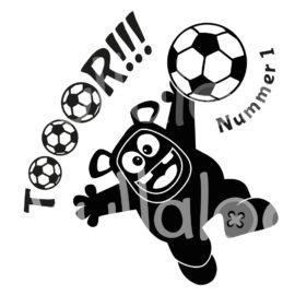 Plotterdatei Fußball - Torwart-Monster