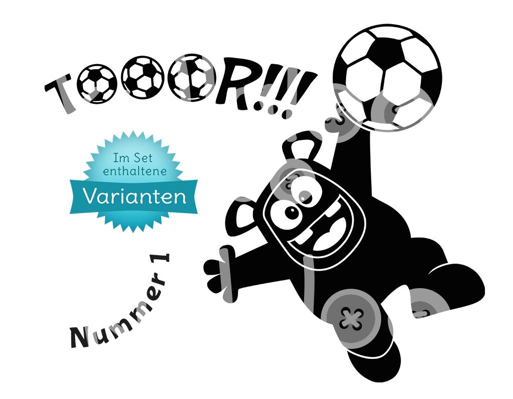 Plotterdatei Fußball - Torwart-Monster   kullaloo