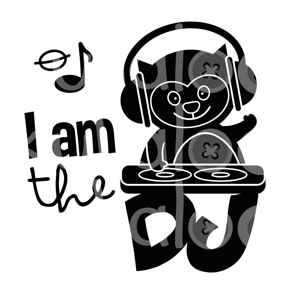 Plotterdatei Musik - I am the DJ