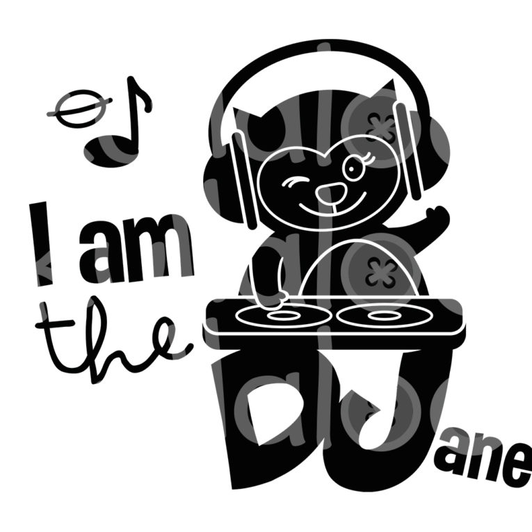 Plotterdatei Musik - I am the DJane
