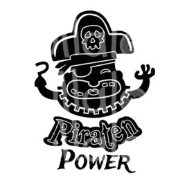 Plotterdatei Pirat - Piraten-Power