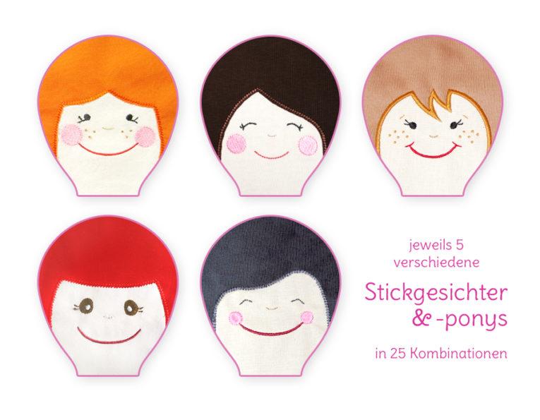 "Schnittmuster Puppe ""LULU"" - verschiedene Gesichtsvarianten"