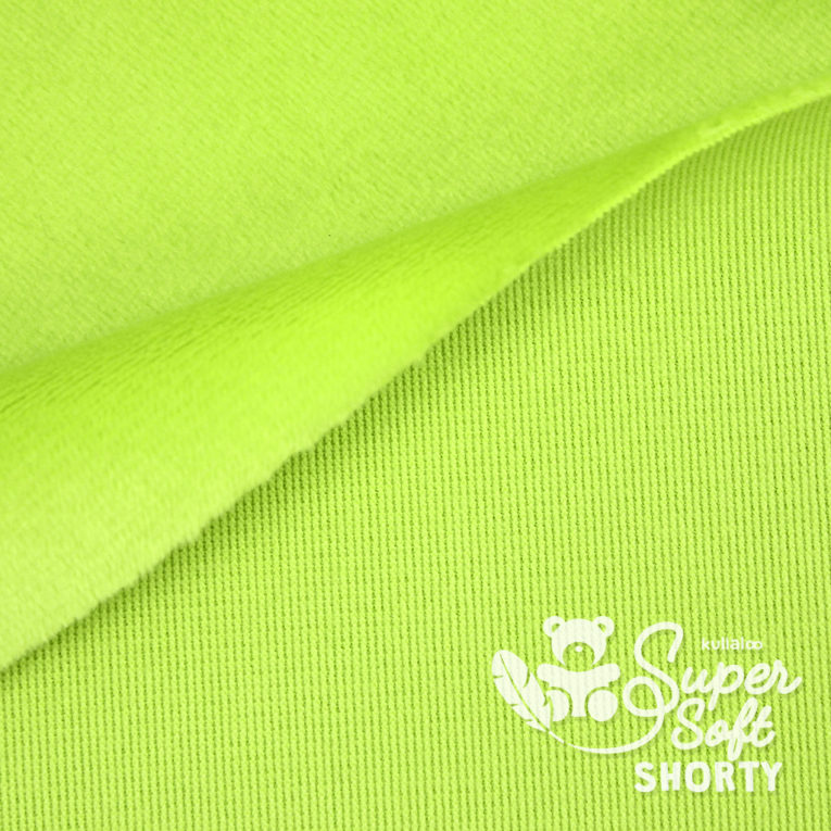 Minky hellgrün - Plüsch Meterware - SuperSoft SHORTY