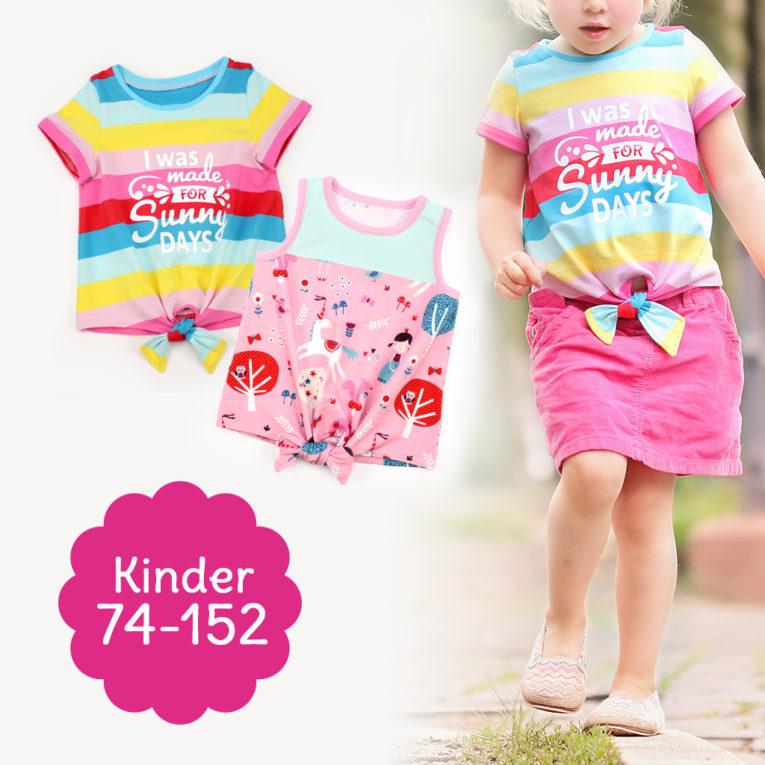 """Schnittmuster Knotenshirt """"JOLLY"""" Kinder"""