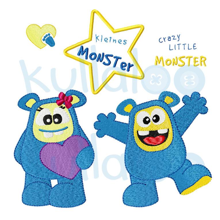 Stickbilder Set Monster Junge & Mädchen 10x10
