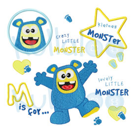 "Stickmonster ""MemoMonsti"" Set 10x10"