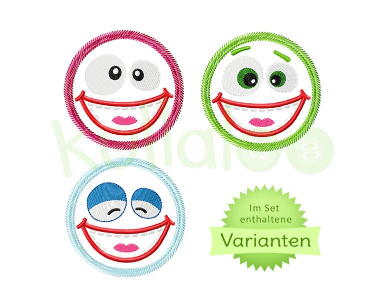 "Stickapplikation ""Cooler Kuller"" Zottel 10x10 – Varianten"
