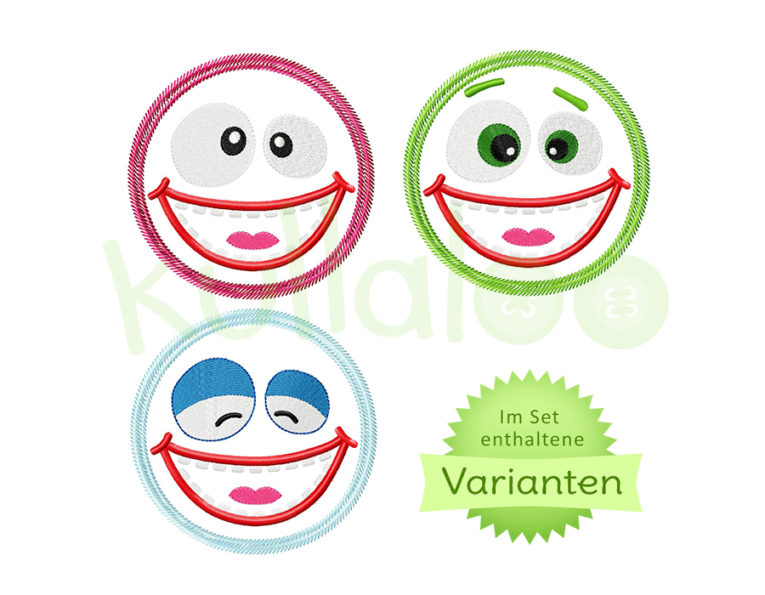 Stickdatei Applikation Zottelmonster 13x18 – Varianten
