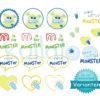 "Stickdateien Baby Monster ""MemoMonsti"" 10x10 – Varianten"