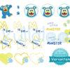 """Stickmonster """"MemoMonsti"""" Set 10x10 – Varianten"""
