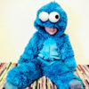 Krümelmonster Kostüm Overall aus SuperSoft SHAGGY blau