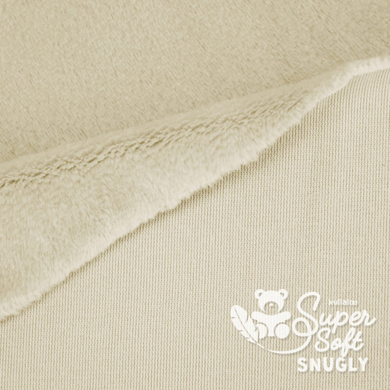 Kurzhaar Plüsch Stoff beige / latte - Rückseite