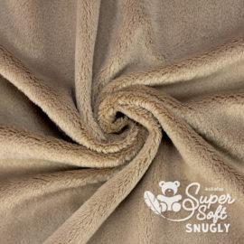 Plüsch Stoff braun / taupe – 5 mm SuperSoft SNUGLY