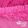 Langhaar Zottelplüsch pink / fuchsia - Rückseite