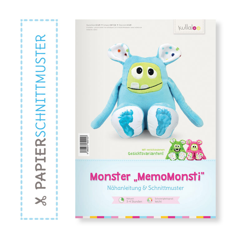 "Papierschnittmuster Monster ""MemoMonsti"""