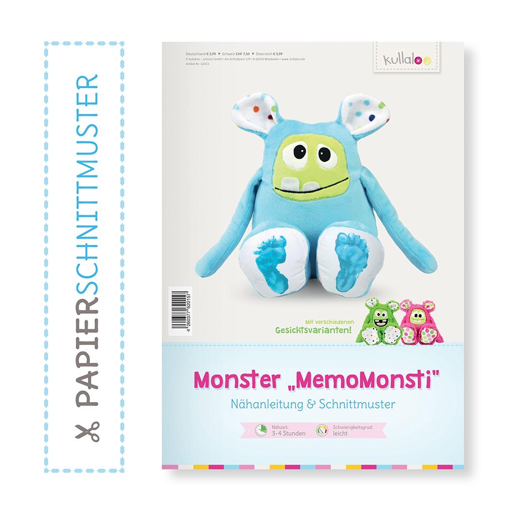 "Papierschnittmuster Monster ""MemoMonsti"" | kullaloo"