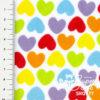 "Plüsch Stoff Muster Herzen ""Rainbow Love HEARTS"" - 10cm-Ausschnitt"