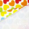 """Plüsch Stoff Muster Herzen """"Rainbow Love HEARTS"""" - Rückseite"""