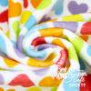 """Plüsch Stoff Muster Herzen """"Rainbow Love HEARTS"""""""
