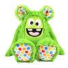 Nähset Kuscheltier Zottelmonster grün / gepunktet - Monster